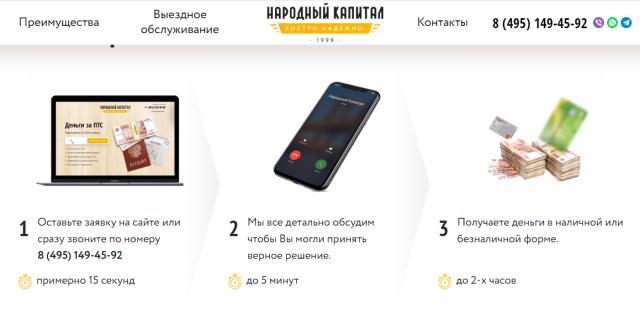 Автоломбард Народный Капитал займ под залог ПТС